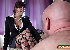 Blonde Jane gets fucked anally by a guy