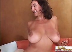 Busty and hot cougar goes wild