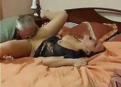 adult old man with young babe and daddys wife with big dick each