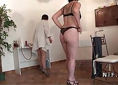 Amateur french mature naked on the floor