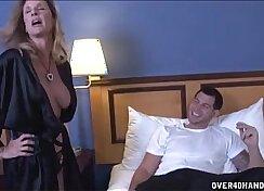 Charming curvy MILF Chloe Awesome enjoys pleasing a young stud