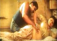 Amateur girl massages and oils body