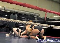 Coed rough fuck lesbian wrestling