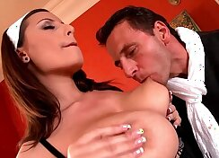 Crazy big tits shared by wild bi and french xxx