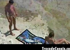 Couples Having Fun on the Beach - Baldur