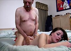 Beautiful Taylor Kavaliere in boots sucking grandpas cock