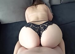 Big ass ebony with some dirty panties fucked