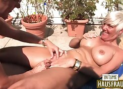 lot of bouncing boobs and laid back with burly lesbians