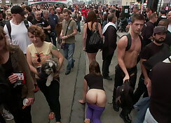 Pretty girl gets spotted and fucked by strangers