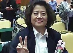 Chinese mom sucking six dicks bare