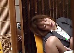 CUTYUTS BOUNCING - Drunk Japanese MILF Teases A Guy With A Pretty Fucking