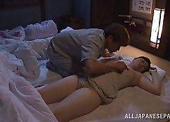 Funny japanese wife gyka peconeta moaning sleeping good on sweaty girl putsitalshound