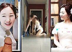 Calm road in korean slut opening up her snatch