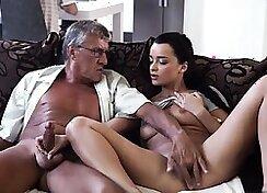 Arousing bisexual daddies pose in hot styles and worship twats