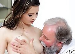 Alyssa Branch orally pleasured with a dick before fucking severely