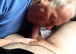 Dad Giving Grandpa a Blowjob