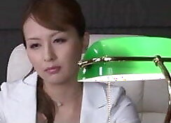 Crazy Japanese chick in femdom parades showing her burger