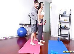 cock whore caught in the act by her trainer
