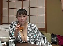 Busty secretary satisfies two horny criminal bosses