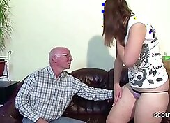 German cutgirl pleases herself hard with a toy seduces