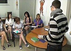 CFNM schoolgirls are having wild lesbie orgy