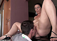 Amazing wife gets her wrecked vagina super boned by the husband