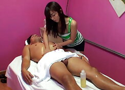 Marica is rubbing a client into ecstasy