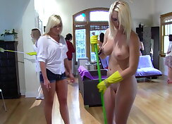 Lesbians fucking each other with strapon