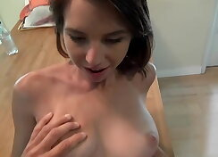 Enticing princess caresses and fucks happily