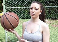 Ball girl gets double fucked