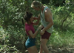 Passionate sex in the forest