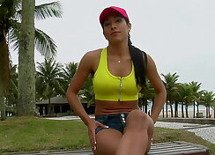 Latina hoe gets the perfect cock size