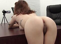Italian next door girl with hairy pussy