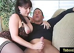 Cougar Molly Clark gives jerk off and blowjob