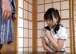 Japanese hoe uses her position as her classroom devours