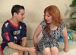 Big Tit Scariest Redhead Mom Ever Fucks For Huge Creampies