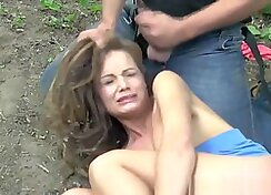 Real hardcore sex outdoors