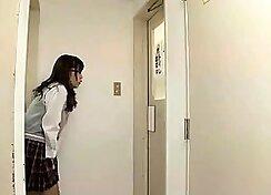 Hot japanese schoolgirls fucked in public