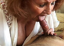 Granny Amateur plowed by Young Black Cock